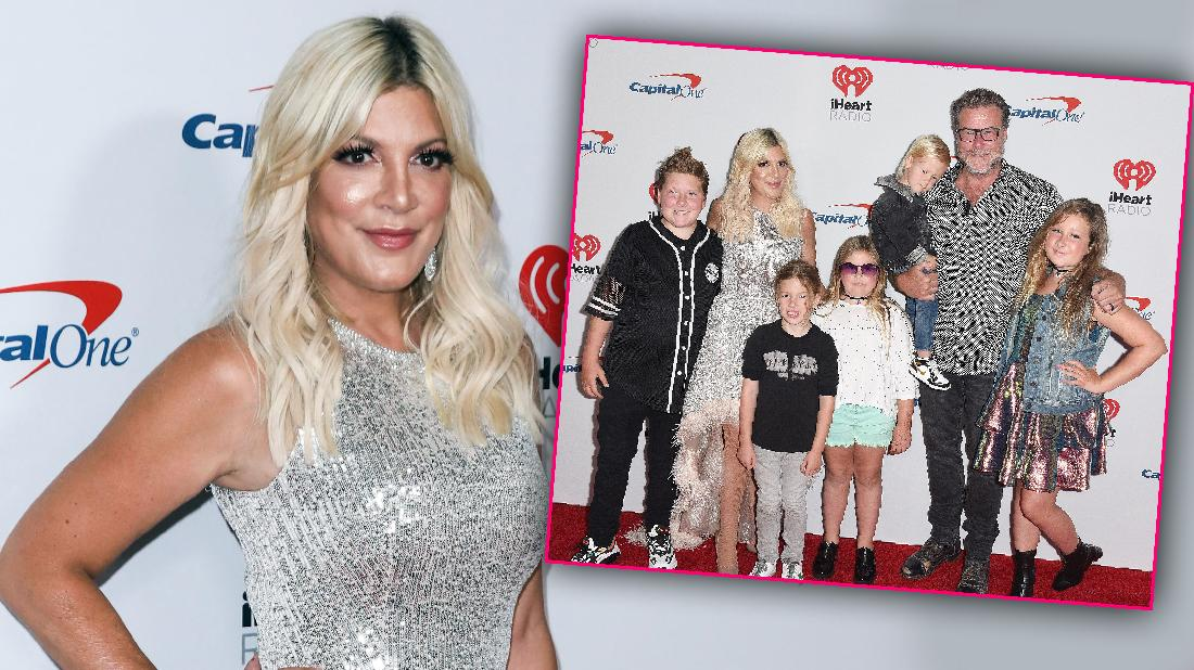 Tori Spelling And Family Red Carpet Amid Money Woes