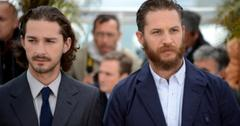 Shia LaBeouf and Tom Hardy walk next to each other.