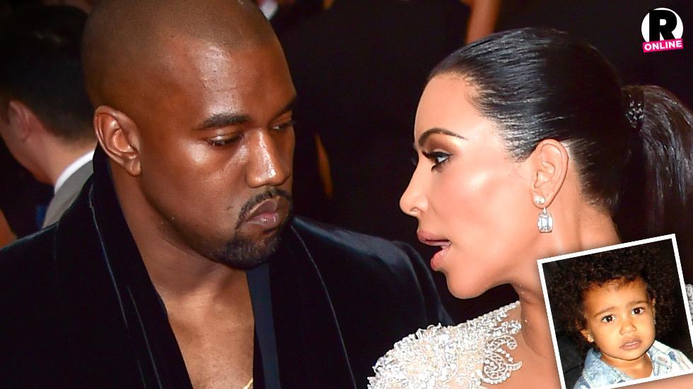Kim Kardashian and Kanye West At War Over North's Selfies