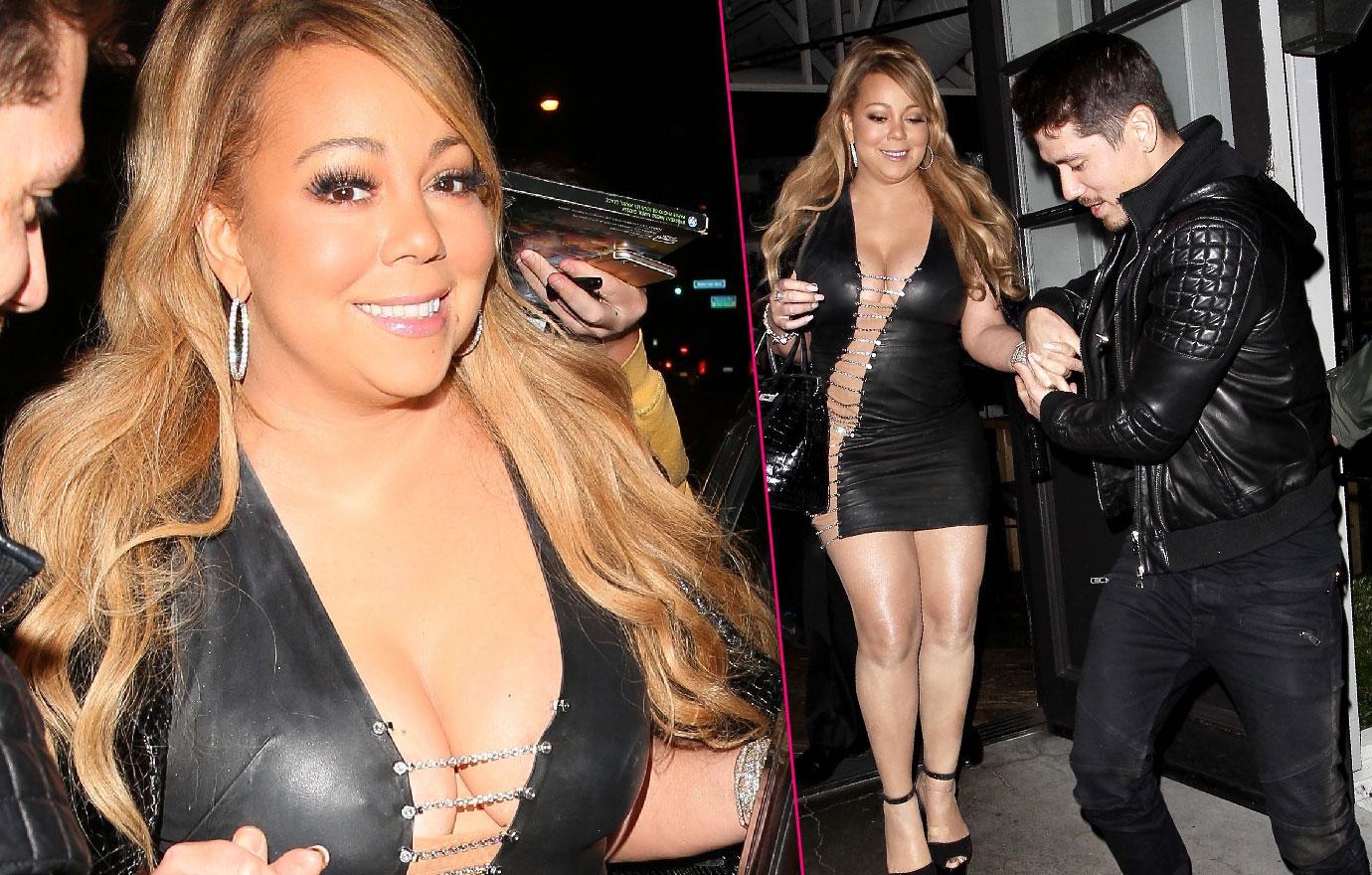 Mariah Carey Busting Out Of Dress Date Night Bryan Tanaka