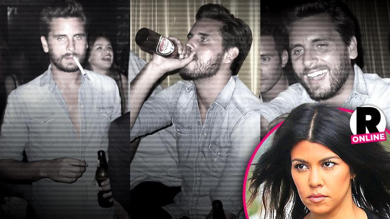 //kourtney kardashian scott disick break up partying pp sl