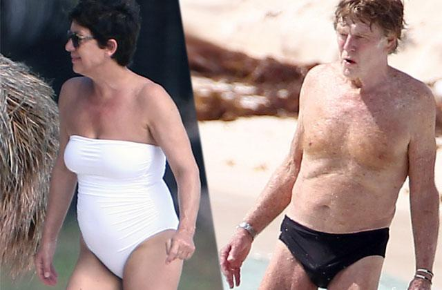 Robert Redford Speedo Wife Sibyl Szaggars Mexico Beach Pics