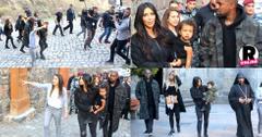 Kim Khloe Kardashian Kanye North West Armenia Monastery SIghtseeing