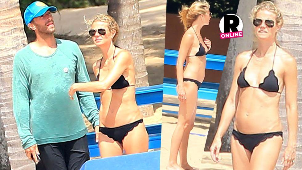 Gwyneth Paltrow Bikini Abs Chris Martin Puerto Vallarta Mexico Beach Vacation