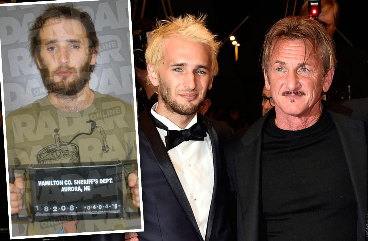 //sean penn son mugshot arrested drug possession pp