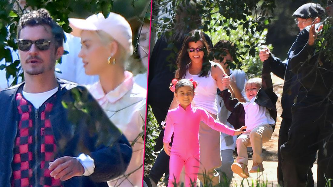 Katy Perry & Orlando Bloom Attend Kanye West's Sunday Service