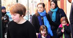 Mimi O'Donnell and her Kids make their way to Philip Seymour Hoffman's Wake