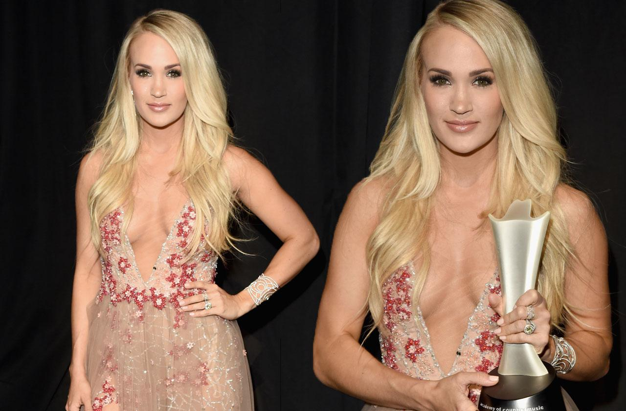 Carrie Underwood ACM Performance Face Injury
