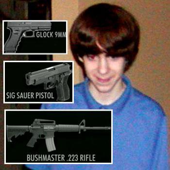 //adam lanza weapons