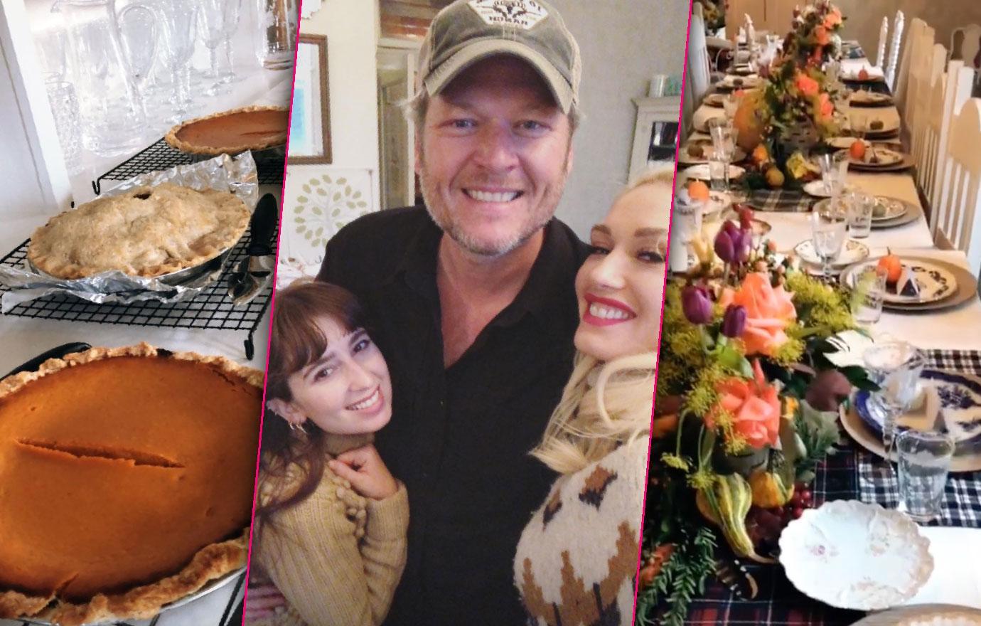 Blake Shelton And Gwen Stefani Celebrate Thanksgiving In Oklahoma