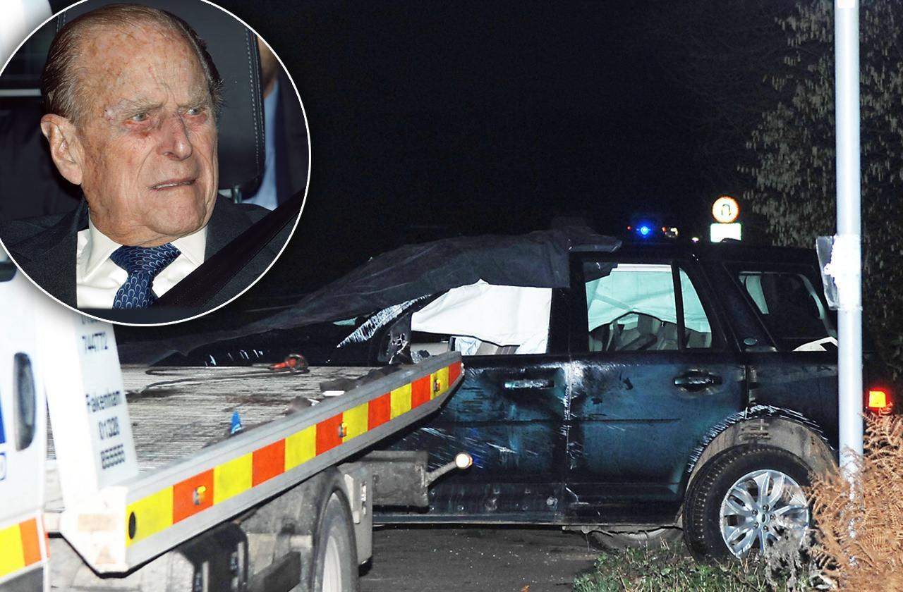 //prince philip car crash pictures pp