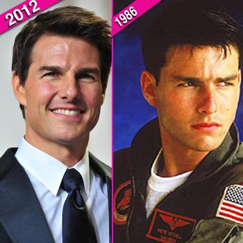 //tom cruise then now wenn top gun