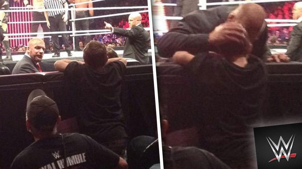 WWE Wrestler Consoles Young Fan