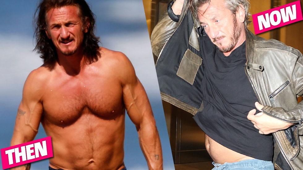 Sean Penn Shirtless Gut
