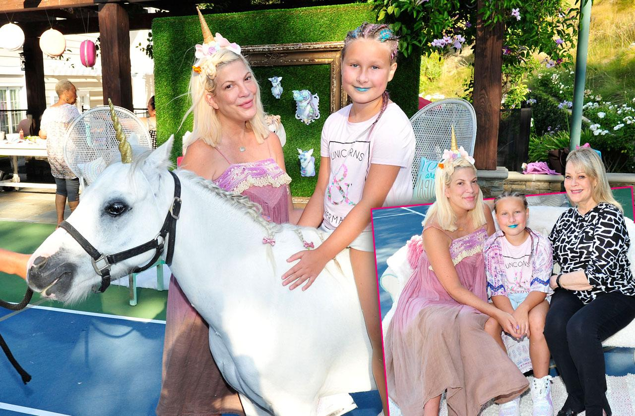 Tori Spelling daughter unicorn birthday party