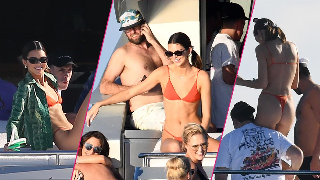 Kendall Jenner Rocks Hot Pink Bikini In Miami