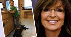 Sarah Palin's Son Standing On Dog