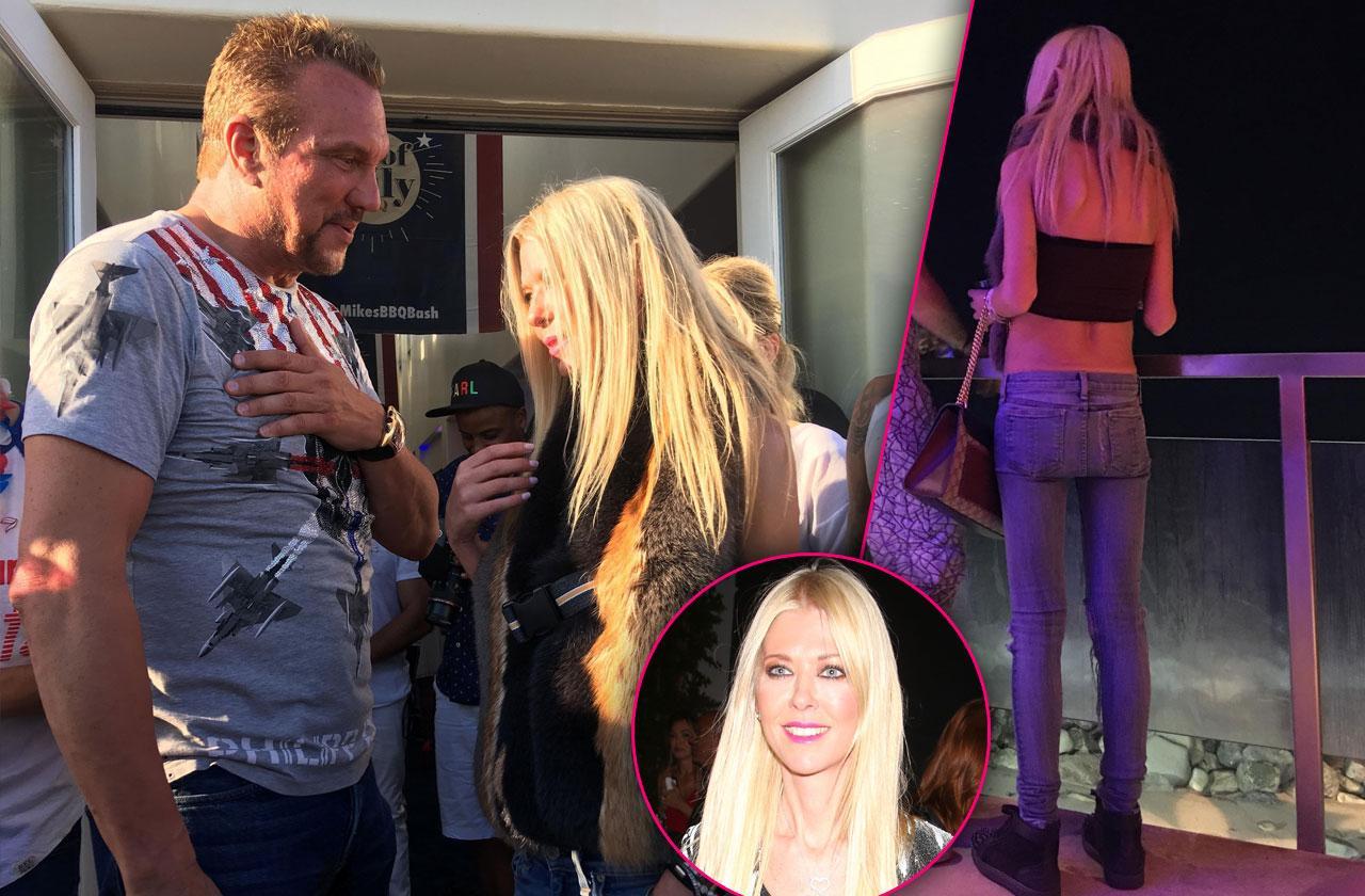 Scary Skinny Tara Reid Parties Friends Big Mike