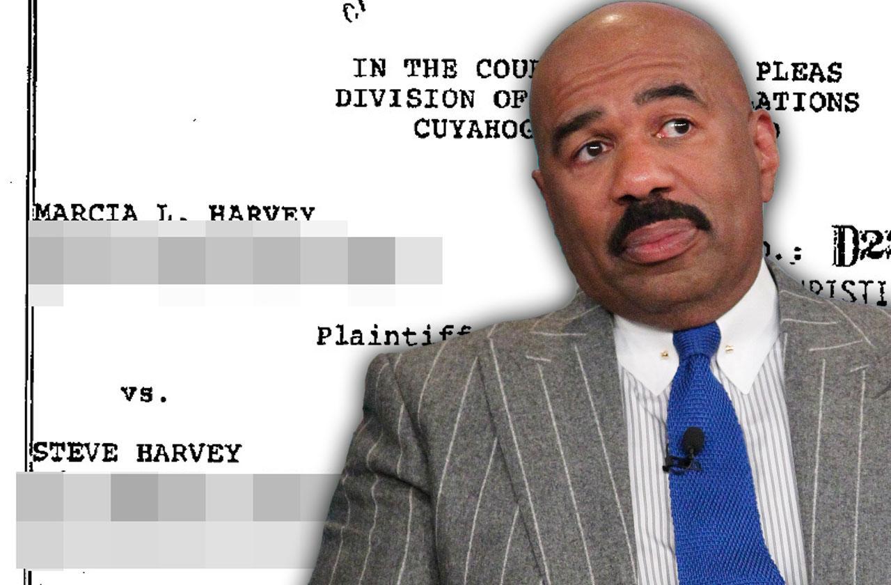 //steve harvey first wife marcia divorce scandal pp