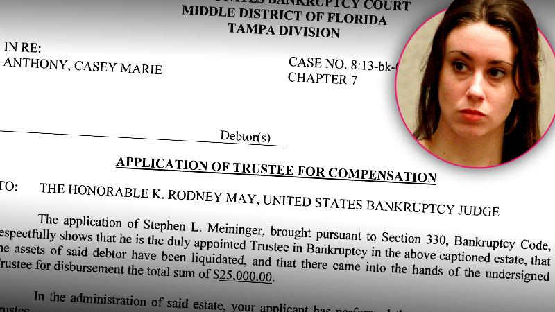 //casey anthony bankruptcy papers reveal almost made book deal st martins press pp sl