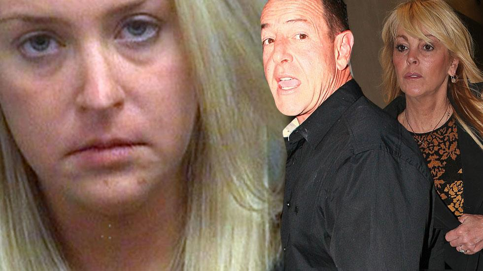 Kate Major Arrested Battery Michael Lohan Dina