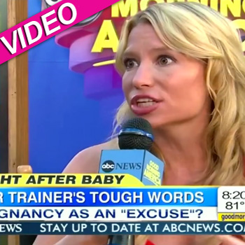 //tracy anderson gma sorry weight