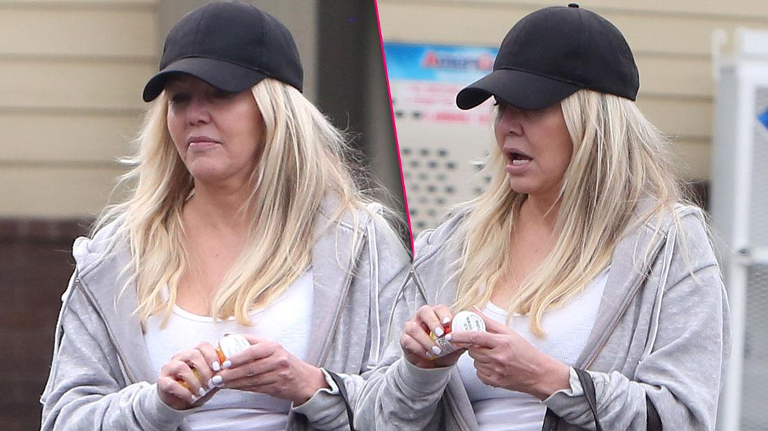 Heather Locklear stopped to pharmacy store to pick up some pills. 03 Dec 2019