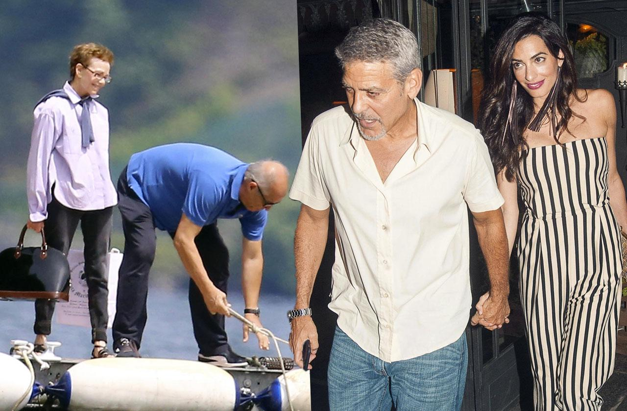 George Clooney Amal lake como date
