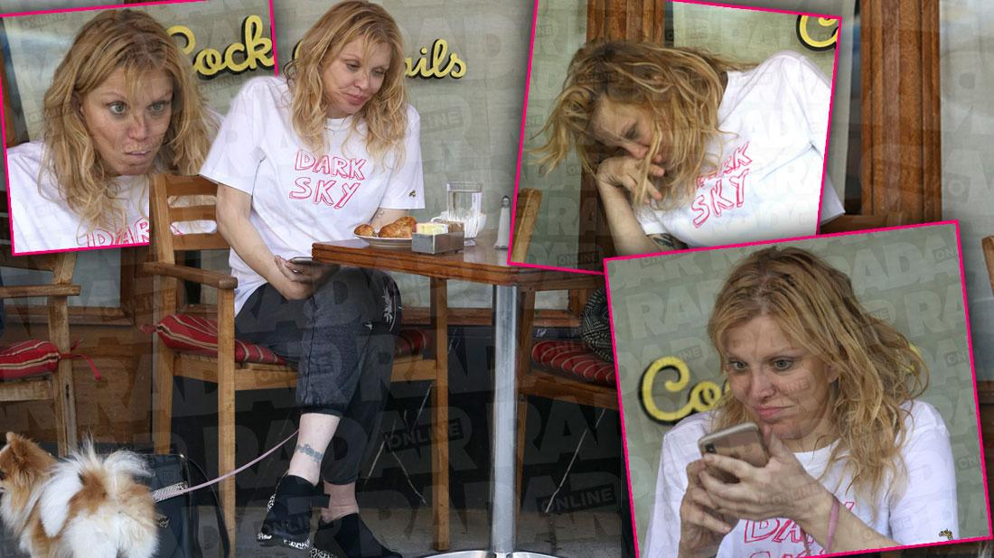 Courtney Love Puts Dog Poop On Restaurant Table In Bizarre Video