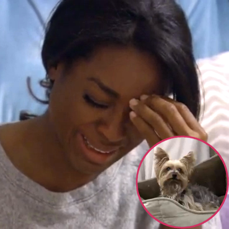 //kenya moore looses dog pp