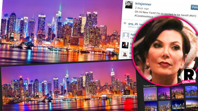 //kris jenner instagram stock photo new york city pp sl