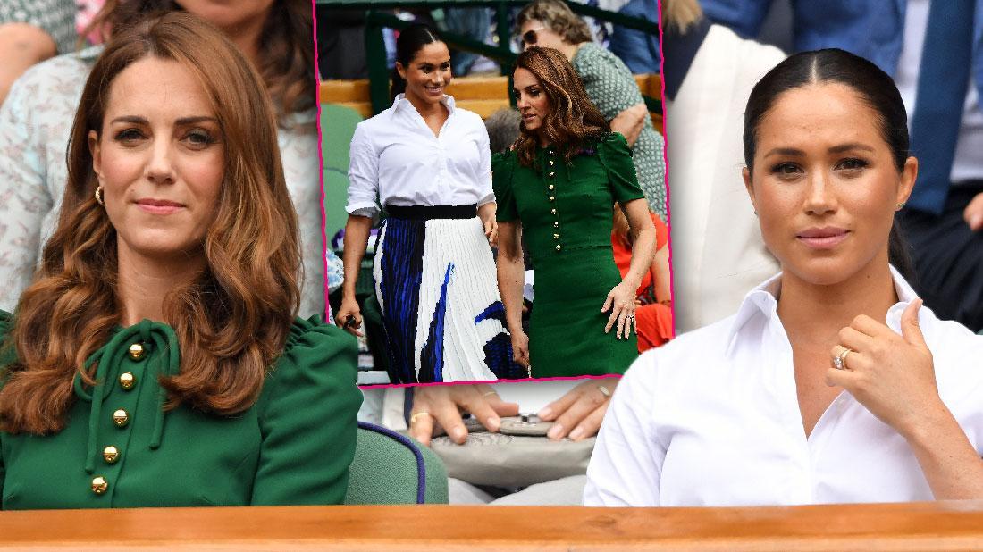 Meghan And Kate Try To Bury Feud Rumors Wimbledon