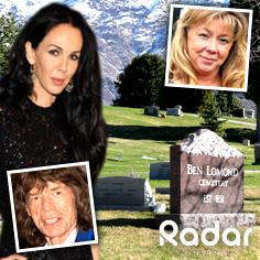 //lwren scott mick jagger fashion jan shane funeral burial sq