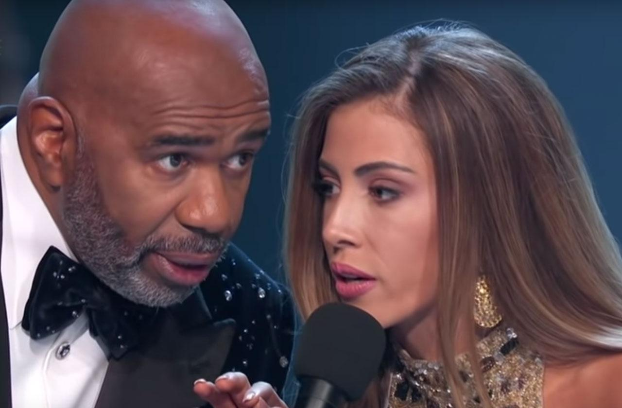 miss universe pageant costa rica makes fun of steve Harvey name mistake