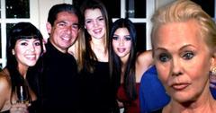 //ellen kardashian says kim khloe kourtney partying while father rob took last breath death wide