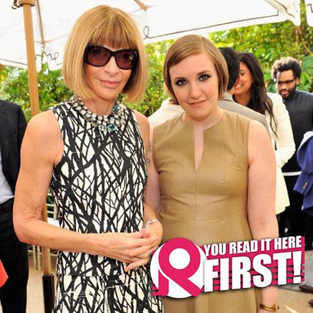 //lena dunham anna wintour vogue cover pp