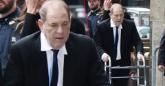 Harvey Weinstein Wearing Dark Suit and Tie, White Shirt Walking with Walker To CourtHarvey Weinstein To Face Sex Assault Charges In Court Amid #MeToo