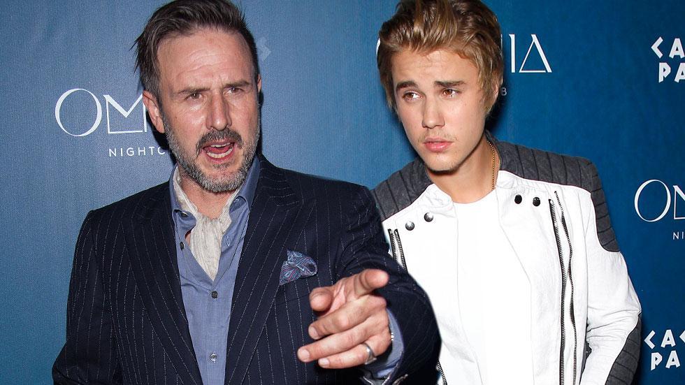 Justin Bieber David Arquette Party