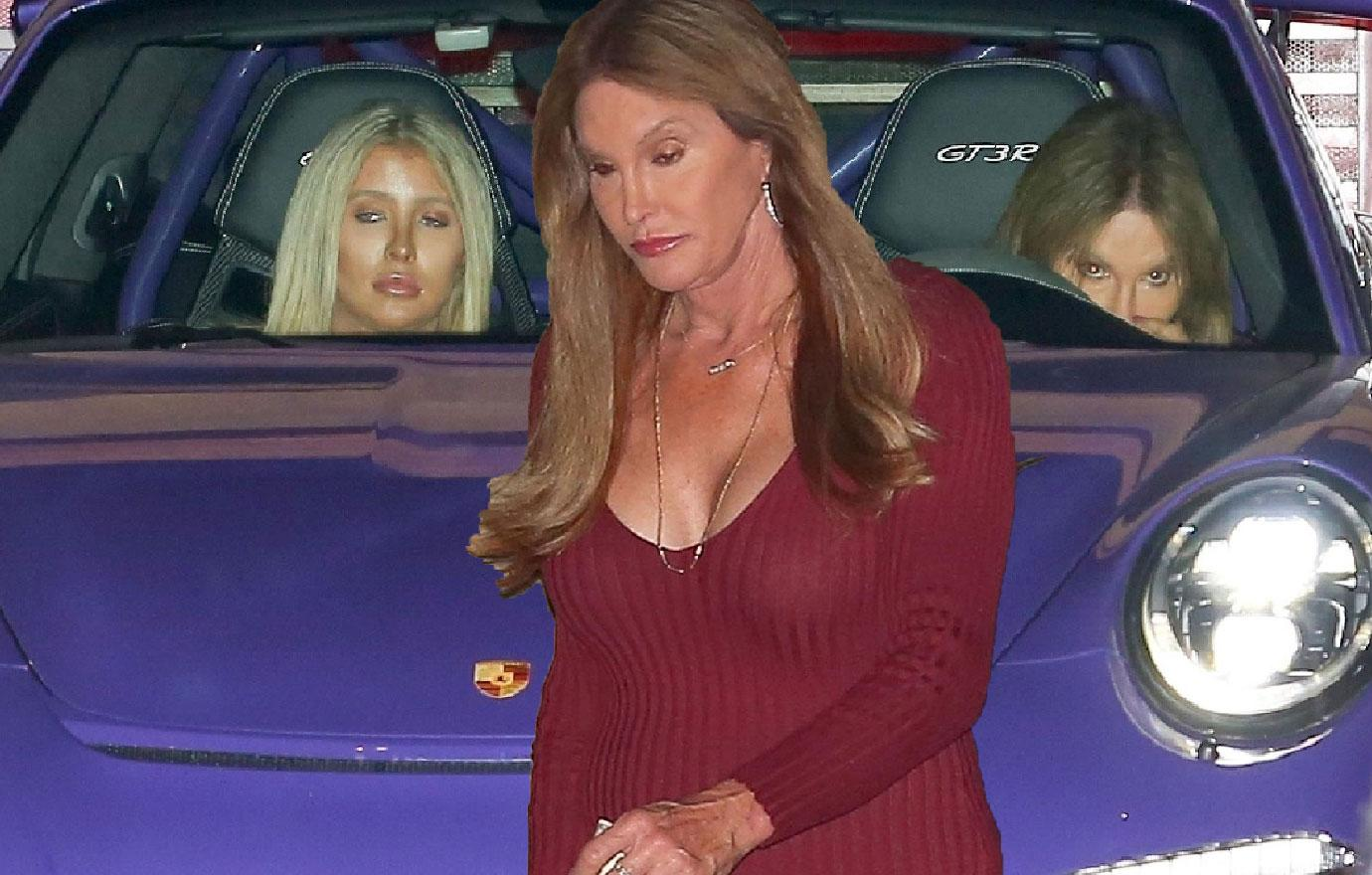 Caitlyn Jenner Red Dress Out With Sophia Hutchins