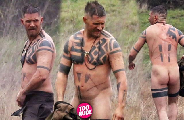 //tom hardy naked nude shirtless taboo set photos pp