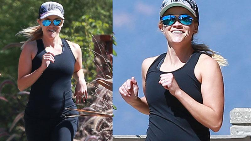 Reese Witherspoon Jogs & Exercises
