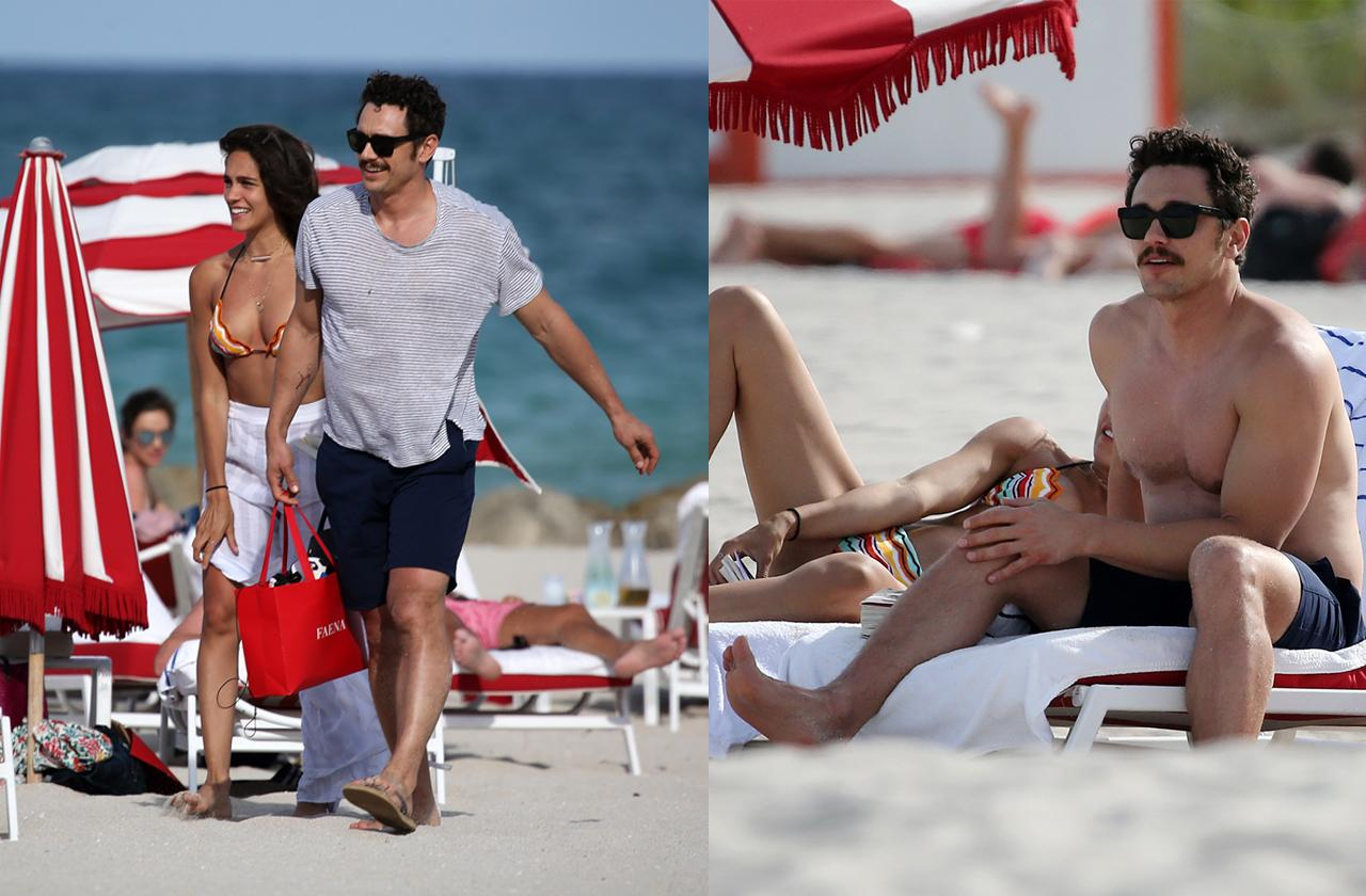 //james franco in beach pda with girfriend pp