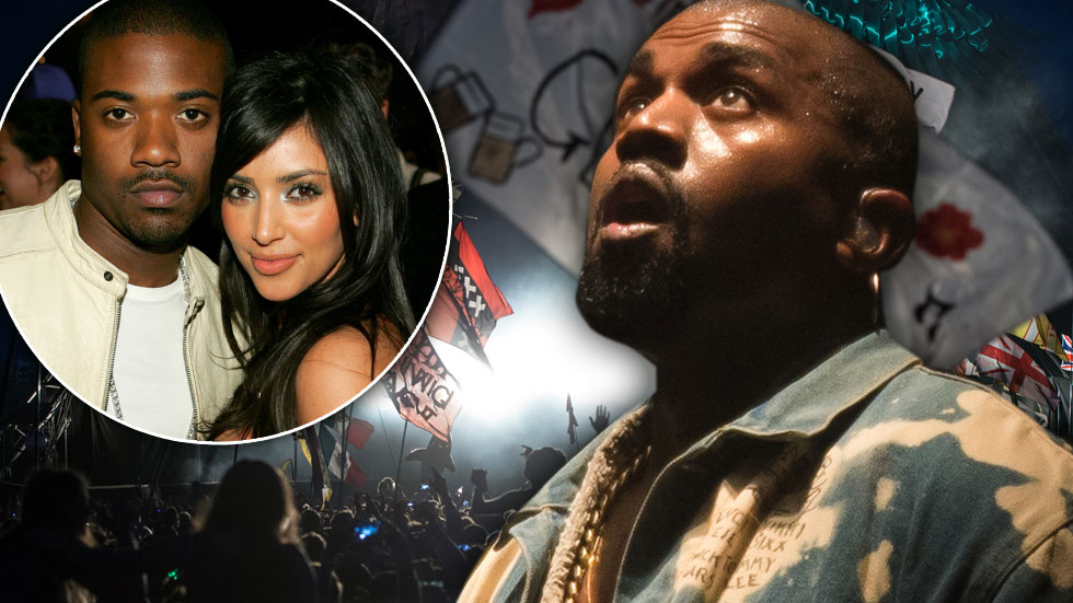 Kanye West Concert Kim Kardashian Ray J Sex Tape Flag