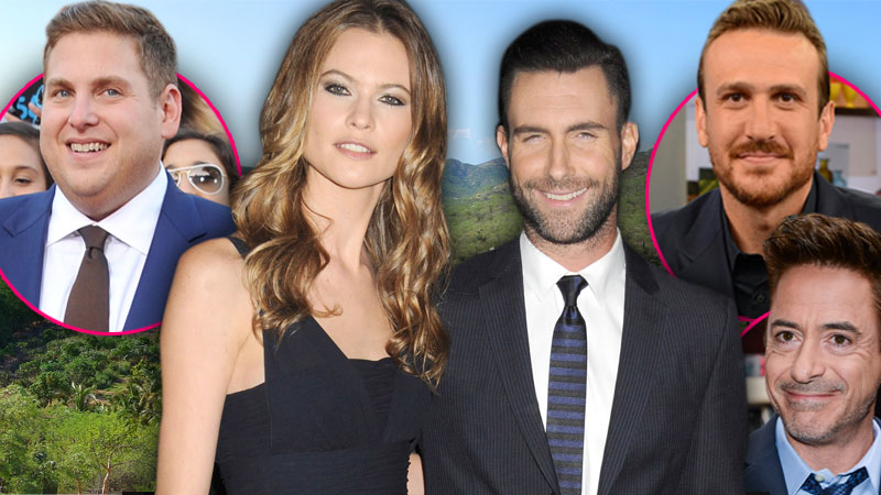 //adam levine behati prinsloo wedding jonah hill robert downey jr mexico pp