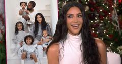 Inset Kardashian West Christmas Card, Kim on ELLEN,Kim Kardashian Admits To Photoshopping Family Christmas Card