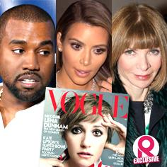 //kanye west fumes anna wintour vogue lena dunham vogue cover refuse put wife kim kardashian sq