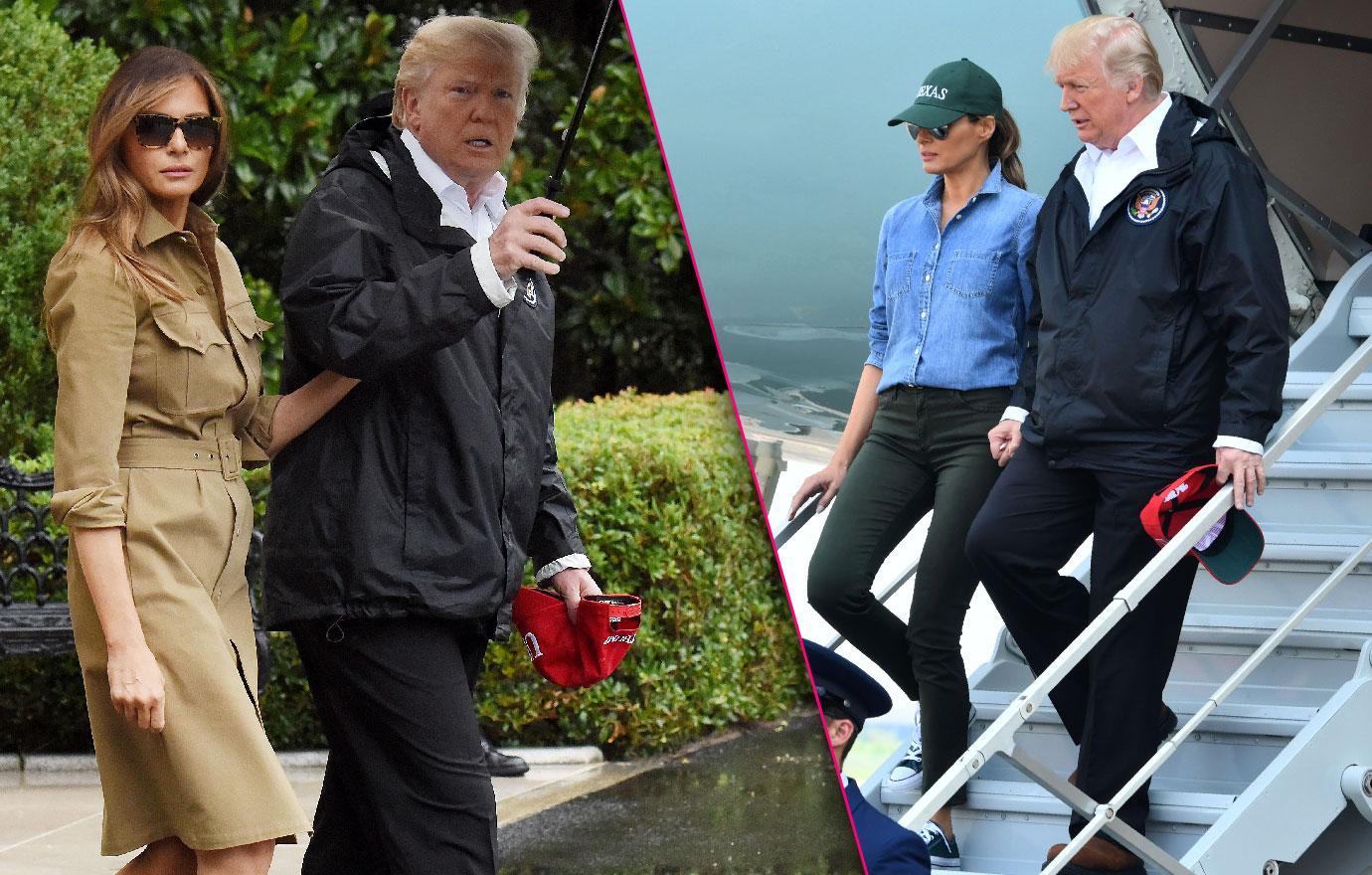 Melania Trump Trades Stilettos For Sneakers In Houston