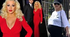 //christina aguilera in red