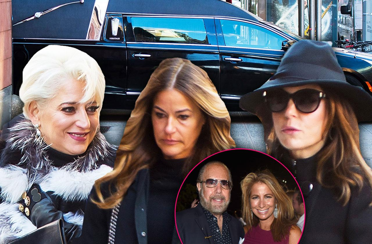 //Bobby Zarin funeral arrivals bethenny pp