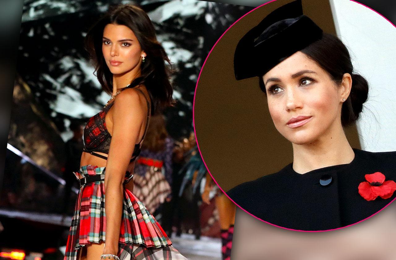 kendall jenner feud meghan markle fashion week fight
